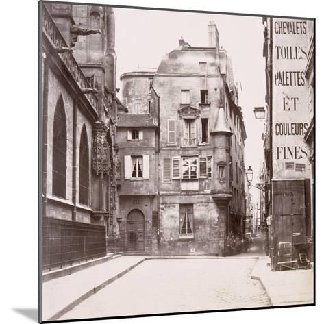 Tourelle derrière l'église Saint-Germain-l'Auxerrois, Paris-Charles Marville-Mounted Giclee Print