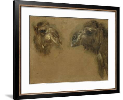 Deux têtes de dromadaires-Pieter Boel-Framed Art Print