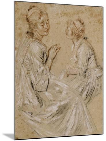 Deux études d'une femme assise-Jean Antoine Watteau-Mounted Giclee Print