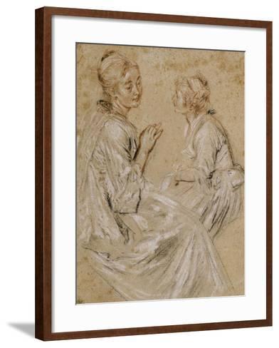 Deux études d'une femme assise-Jean Antoine Watteau-Framed Art Print