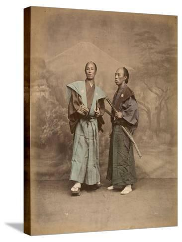 Deux samouraï--Stretched Canvas Print