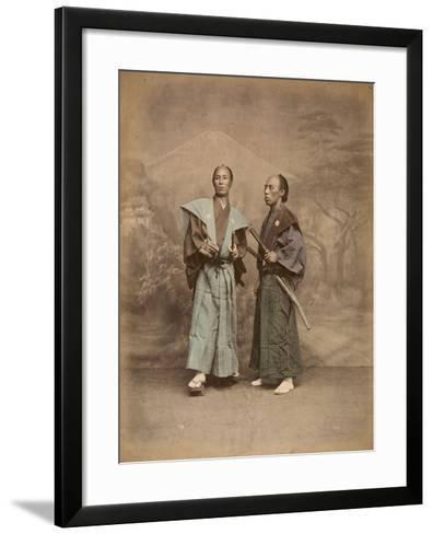 Deux samouraï--Framed Art Print
