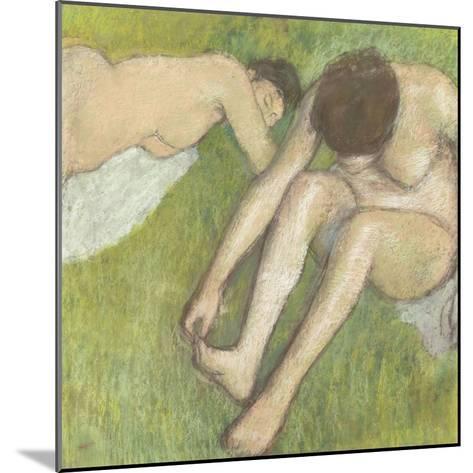 Deux baigneuses sur l'herbe-Edgar Degas-Mounted Giclee Print