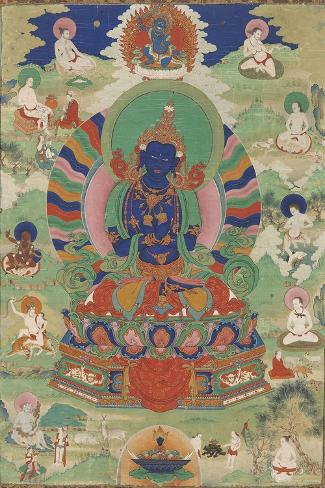 Vajradhara entour? de mah?siddha--Stretched Canvas Print