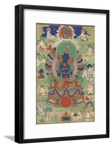 Vajradhara entour? de mah?siddha--Framed Art Print