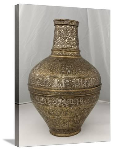 "Vase au nom du Sultan al-Malik al-Nasir Salah al-Din Yusuf dit "" vase Barberini ""--Stretched Canvas Print"