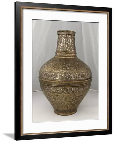 """Vase au nom du Sultan al-Malik al-Nasir Salah al-Din Yusuf dit """" vase Barberini """"--Framed Art Print"""