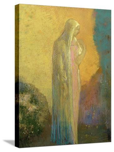 Femme voilée debout-Odilon Redon-Stretched Canvas Print