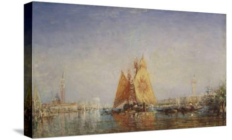Venise, Trabacco à la voile jaune-F?lix Ziem-Stretched Canvas Print