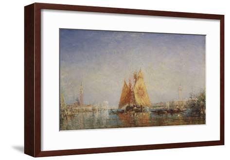 Venise, Trabacco à la voile jaune-F?lix Ziem-Framed Art Print