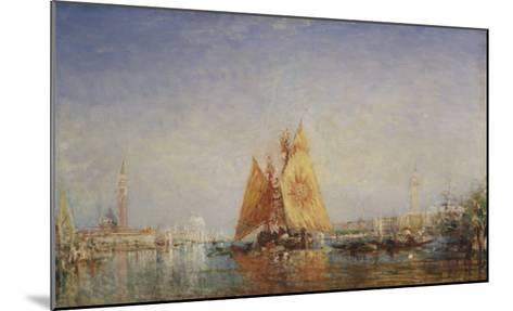 Venise, Trabacco à la voile jaune-F?lix Ziem-Mounted Giclee Print