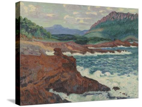 Vue d'Agay (Var)-Armand Guillaumin-Stretched Canvas Print