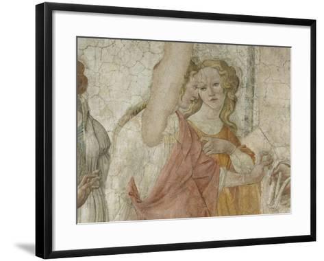 Vénus et les Grâces offrant des présents à une jeune fille-Sandro Botticelli-Framed Art Print