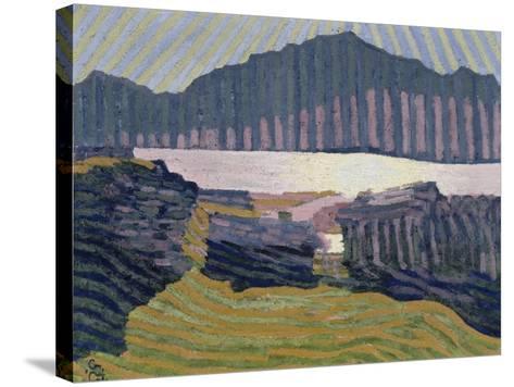 View Capolago, Blick Auf Den Über Capolago Silsersee-Giovanni Giacometti-Stretched Canvas Print