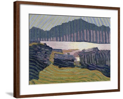 View Capolago, Blick Auf Den Über Capolago Silsersee-Giovanni Giacometti-Framed Art Print