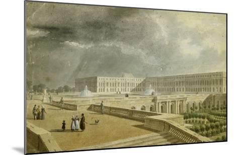 Vue du château de Versailles et de l'Orangerie depuis les Cent Marches sous Louis-Philippe--Mounted Giclee Print
