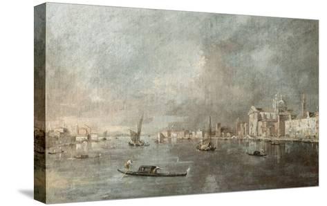 Vue de la Giudecca avec les Zattere-Francesco Guardi-Stretched Canvas Print