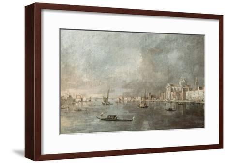 Vue de la Giudecca avec les Zattere-Francesco Guardi-Framed Art Print