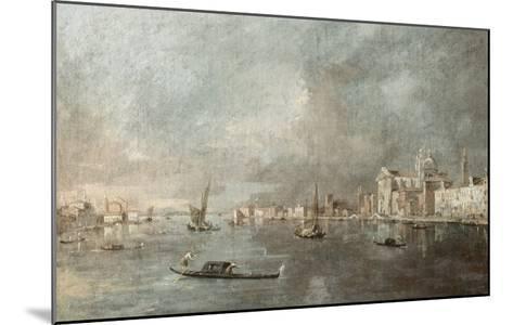 Vue de la Giudecca avec les Zattere-Francesco Guardi-Mounted Giclee Print