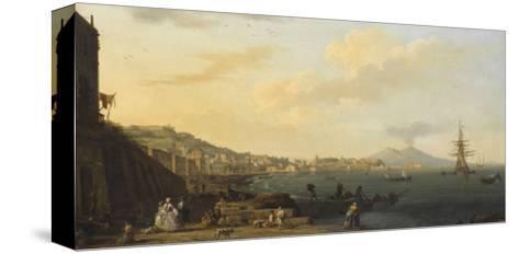 Vue de Naples avec le Vésuve-Claude Joseph Vernet-Stretched Canvas Print