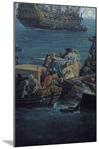 Vue du Golfe de Bandol, pêche au thon-Claude Joseph Vernet-Mounted Giclee Print