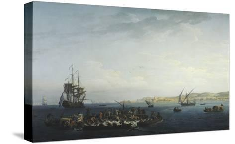 Vue du Golfe de Bandol, pêche au thon-Claude Joseph Vernet-Stretched Canvas Print