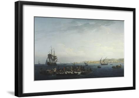 Vue du Golfe de Bandol, pêche au thon-Claude Joseph Vernet-Framed Art Print