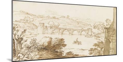 Vue du Ponte Molle, prise de la Villa Madama-Giovanni Francesco Grimaldi-Mounted Giclee Print