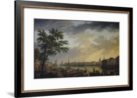 Vue du port de la Rochelle-Claude Joseph Vernet-Framed Art Print
