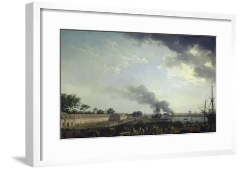 Vue du port de Rochefort-Claude Joseph Vernet-Framed Art Print