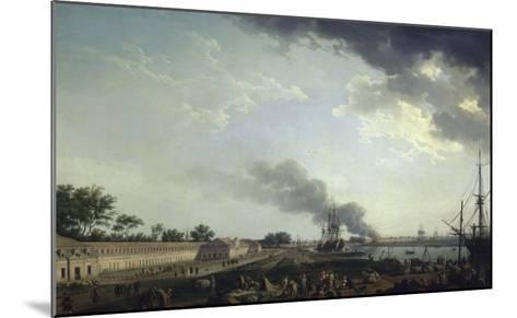 Vue du port de Rochefort-Claude Joseph Vernet-Mounted Giclee Print