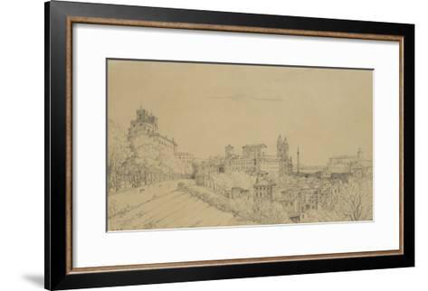 Vue de Rome prise du Pincio-Victor Baltard-Framed Art Print