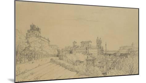 Vue de Rome prise du Pincio-Victor Baltard-Mounted Giclee Print