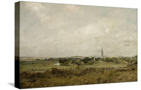 Vue de Salisbury-John Constable-Stretched Canvas Print