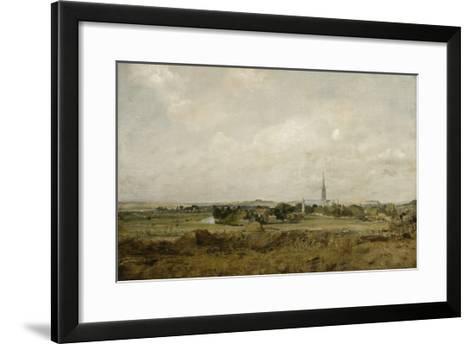 Vue de Salisbury-John Constable-Framed Art Print