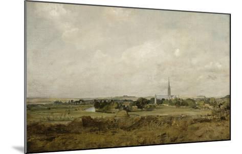 Vue de Salisbury-John Constable-Mounted Giclee Print