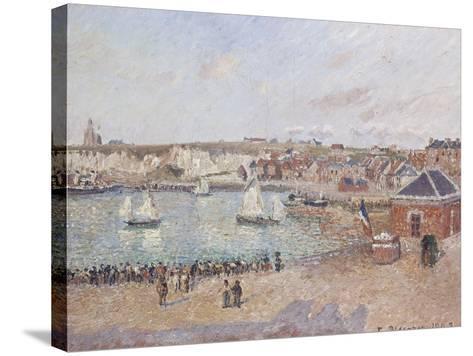 Vue de l'avant-port de Dieppe-Camille Pissarro-Stretched Canvas Print