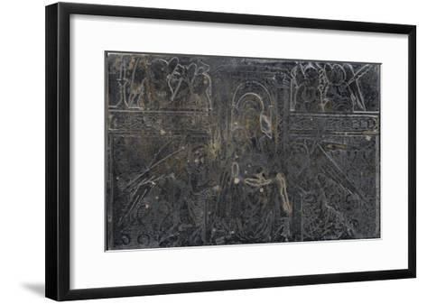 Vierge à l'Enfant avec anges--Framed Art Print