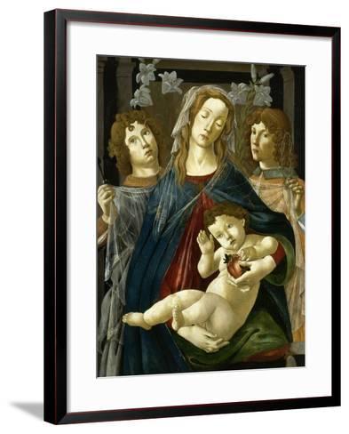 Vierge à l'Enfant à la grenade-Sandro Botticelli-Framed Art Print
