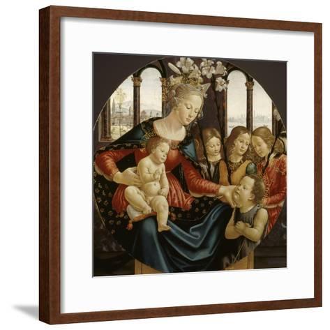 Vierge à l'Enfant-Domenico Ghirlandaio-Framed Art Print