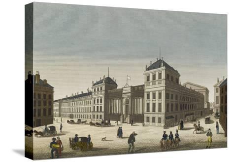 Vue du palais Bourbon--Stretched Canvas Print