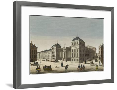 Vue du palais Bourbon--Framed Art Print