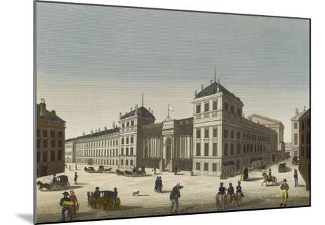 Vue du palais Bourbon--Mounted Giclee Print