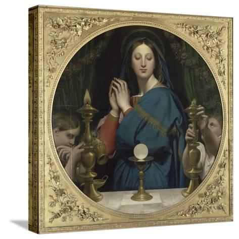 La Vierge �'Hostie-Jean-Auguste-Dominique Ingres-Stretched Canvas Print