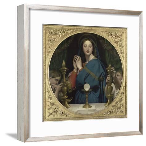 La Vierge �'Hostie-Jean-Auguste-Dominique Ingres-Framed Art Print