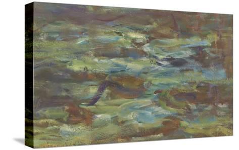 Les Nymph� : Soleil couchant-Claude Monet-Stretched Canvas Print