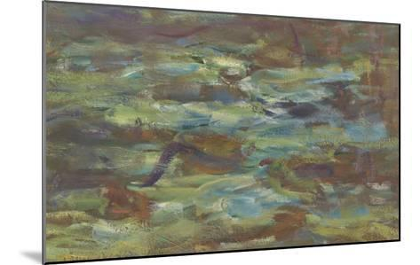 Les Nymph� : Soleil couchant-Claude Monet-Mounted Giclee Print