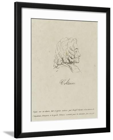 Voltaire (1694-1778), Represented Old, Profile, 1778-Claude Joseph Vernet-Framed Art Print