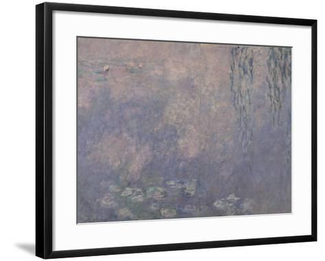Les Nymphéas : Les Deux saules-Claude Monet-Framed Art Print