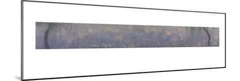 Les Nymphéas : Les Deux saules-Claude Monet-Mounted Giclee Print